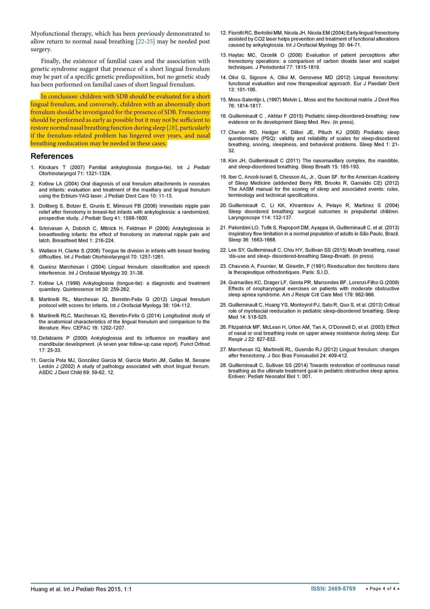 Short Lingual Frenulum and Obstructive Sleep Apnea in Children-4